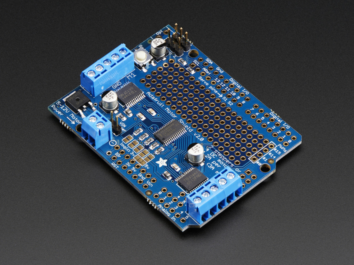 Adafruit Motor Stepper Servo Shield For Arduino V2 Kit V2 3