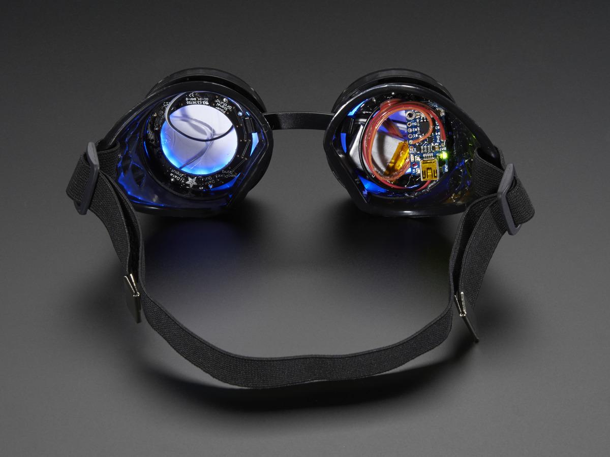 Adafruit Neopixel Arduino 82158 Led Matrix Trinketpowered Rgb Costume Goggles Diy Kit