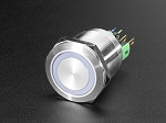 Rugged Metal Pushbutton - 22mm 6V RGB Latching On/Off