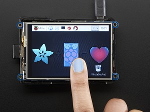 "Adafruit PiTFT Plus 480x320 3.5"" TFT+Touchscreen for Raspberry Pi"