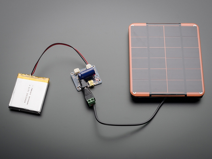 adafruit usb dc solar lithium ion polymer charger v2Atmel Solar Panel Battery Charger #15