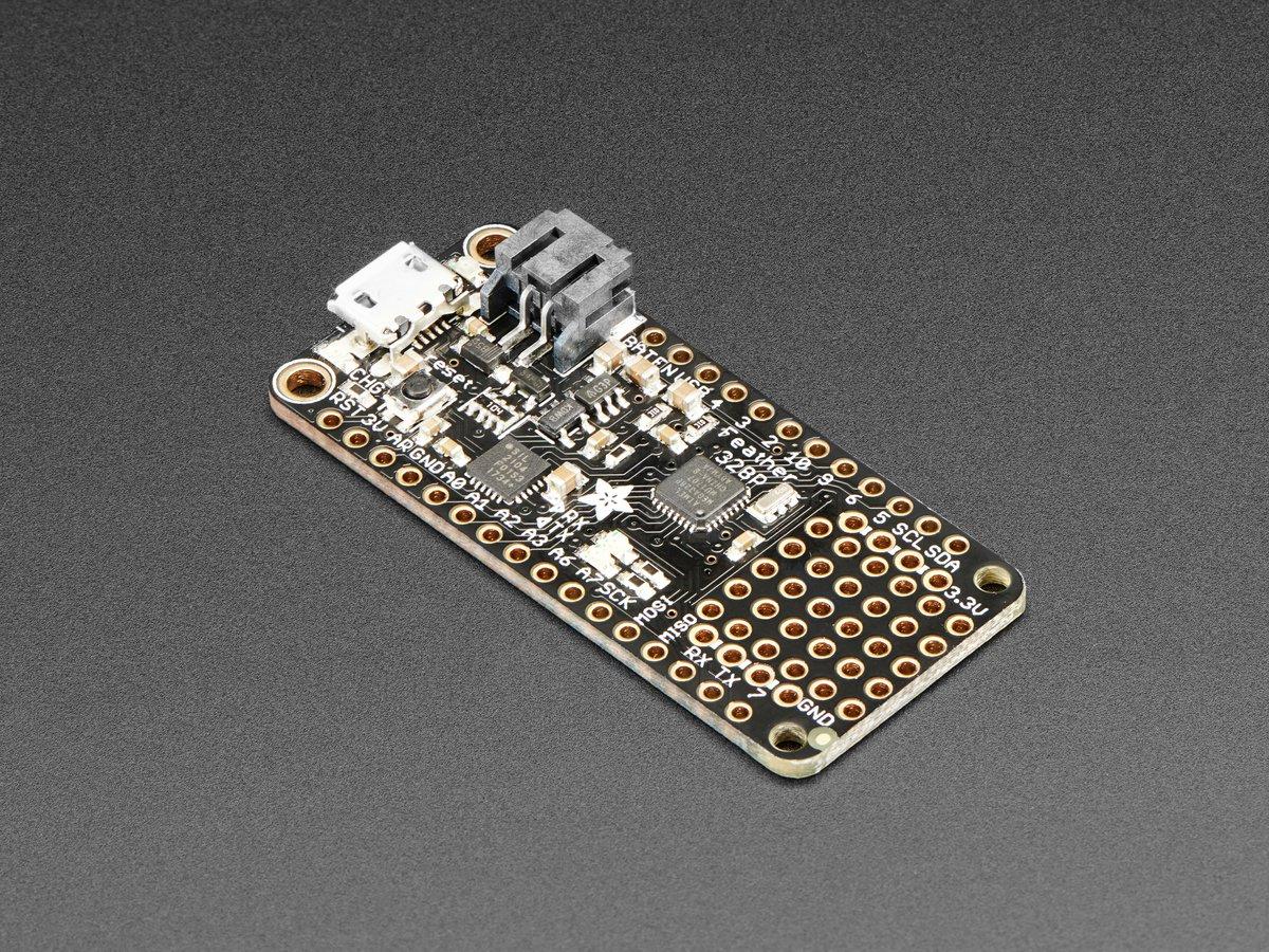 Adafruit Feather 328P Board - Atmega328P 3 3V @ 8 MHz