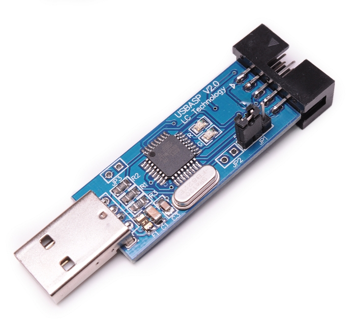 Usbasp Usbisp Avr 10 Pin Usb Programmer 3 3v 5v W Ribbon Cable