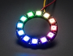 Adafruit NeoPixel Ring 12 WS2812 5050 RGB LED Halo with Integrated Drivers