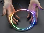 Adafruit NeoPixel 1/4 60 Ring WS2812 5050 RGB LED Halo w/ Integrated Drivers