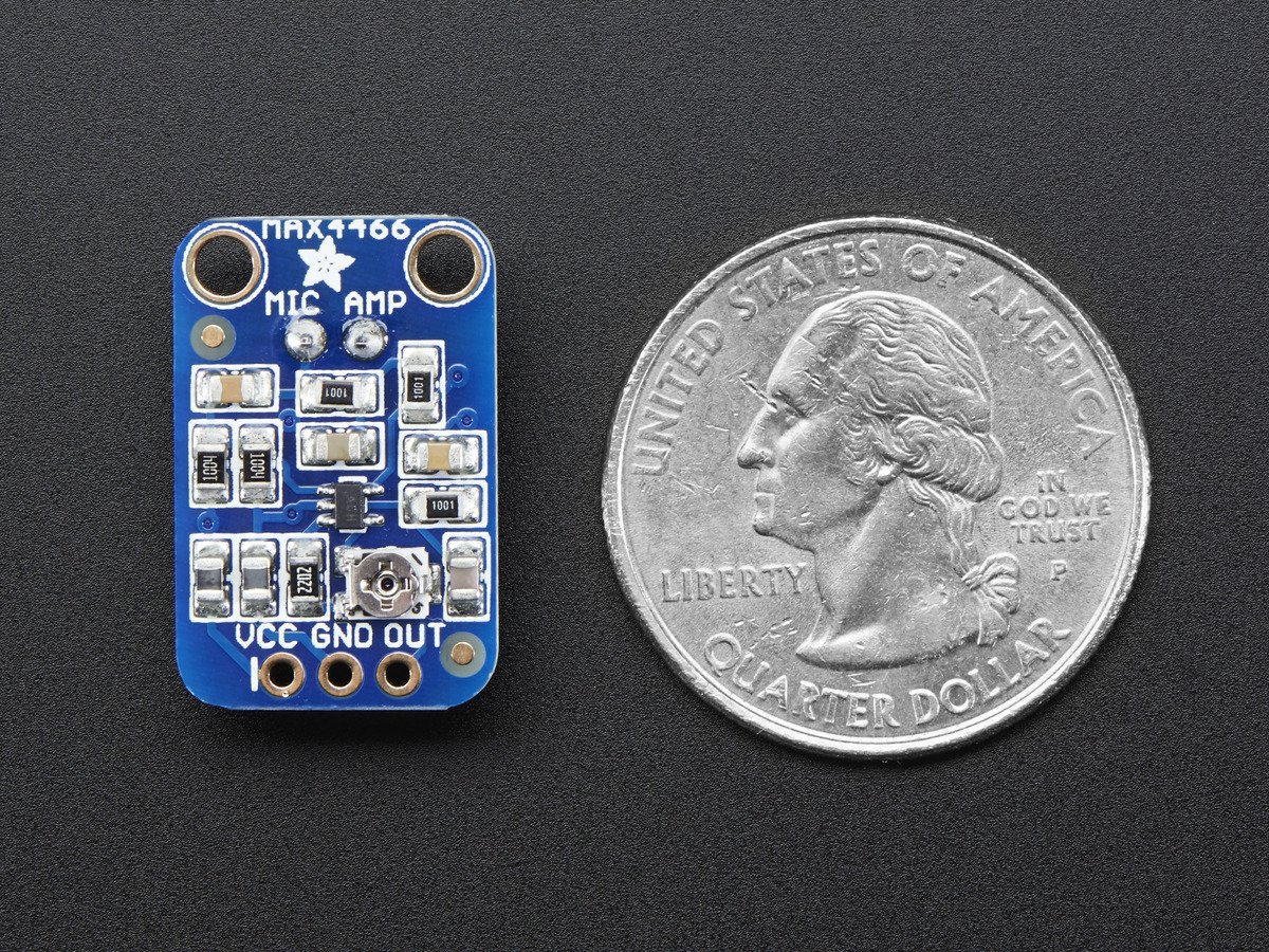Adafruit Electret Microphone Amplifier Max4466 With Adjustable Gain Circuit As Well Sound Sensor Arduino