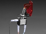 Heavy Duty Illuminated Toggle Switch with Cover - Red