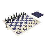 Basic Club Chess Set Combo - Navy Blue