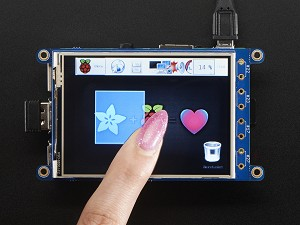 "Adafruit PiTFT Plus 320x240 3.2"" TFT + Resistive Touchscreen for Rapsberry Pi"