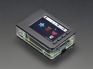"Adafruit Raspberry Pi Case Base & Faceplate for Pi 2 or Pi 3 w/ 2.8"" PiTFT Touchscreen"