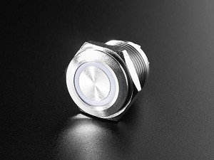 Rugged Metal Pushbutton - 16mm 6V RGB Momentary