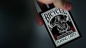 Bicycle Black Tiger Deck - Red Pips