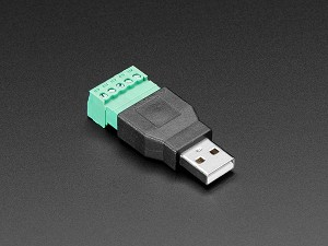 USB-A Male Plug to 5-pin Terminal Block